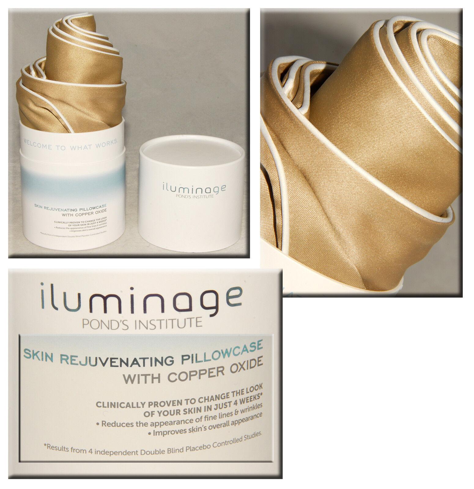 Iluminage - LUXURIOUS Skin Rejuvenating PILLOWCASE w  COPPER OXIDE King Größe NEW