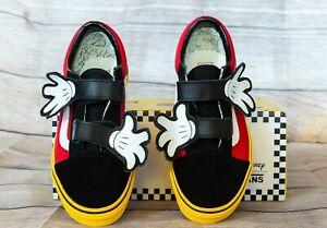 96385e059 Vans Mickey Disney Old Skool V Hugs Mouse Red/Black Kids 2.5 Skate ...