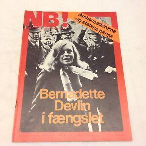 Bernadette-Devlin-On-Front-Cover-Original-Vintage-Danish-Magazine-1970-034-NB-034