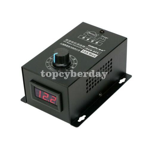 DC Motor Speed Regulator PWM Module Digital Controller Switch 15A DC6-90V US