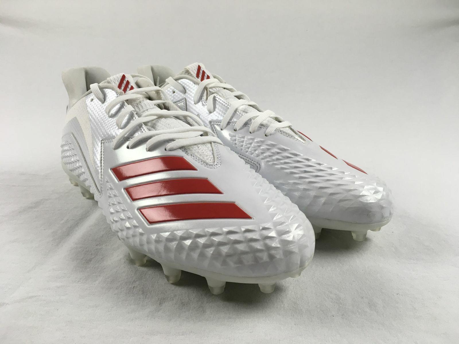 NEW adidas Freak X Carbon Low - White Cleats (Men's 13.5)