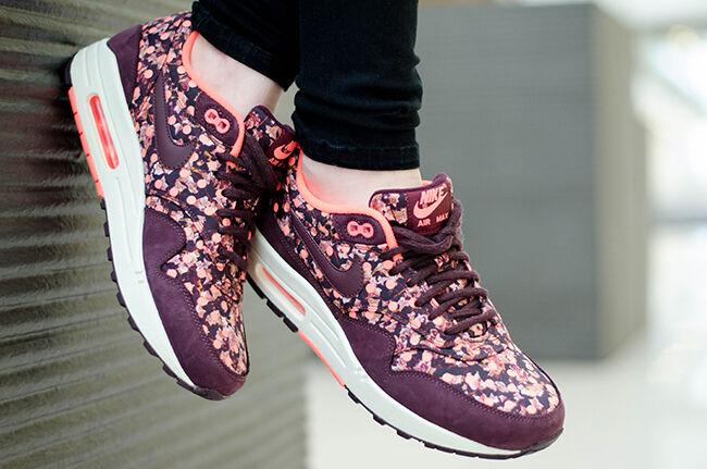 Nike airmax 1 Liberty of london qs Deep Burgundy Rare Tailles Multiples -