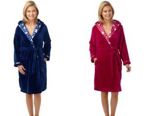 4336f8ab8f Clearance....Indigo Sky Polar Bear Trim Fleece Dressing Gown Robe 10 ...