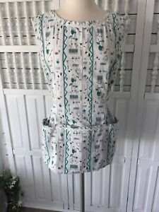 Handmade-2019-women-039-s-small-medium-vintage-style-apron-triple-pocket-ties-Q3