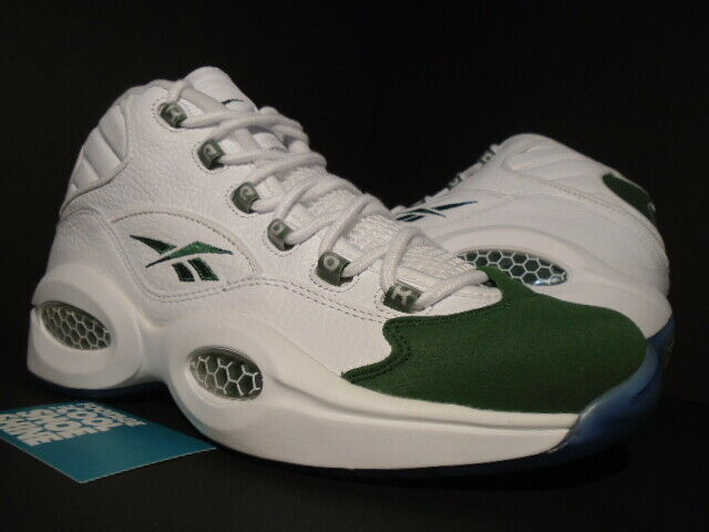 2015 REEBOK QUESTION MID ALLEN IVERSON SUEDE WHITE RACING GREEN SVSM 55990 10.5