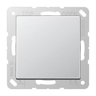 Jung A500 aluminium, STECKDOSE KLAPPDECKEL A1520KLAL