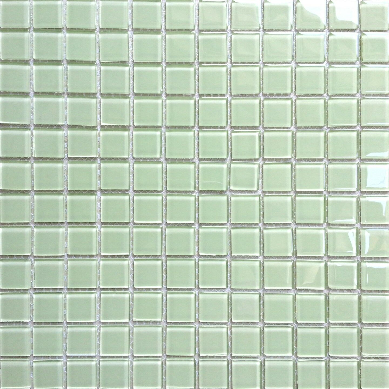 1 SQM Light Grün Glass Mosaic Tiles 300x300x4mm (MT0021)
