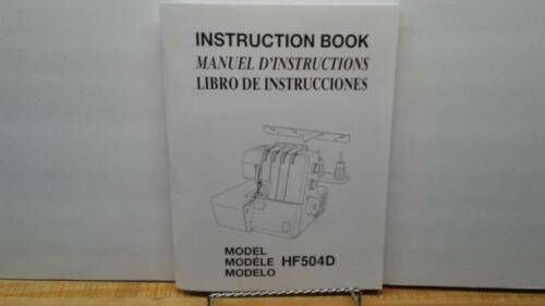 New Home HF504D Serger Sewing Machine Instruction Manual