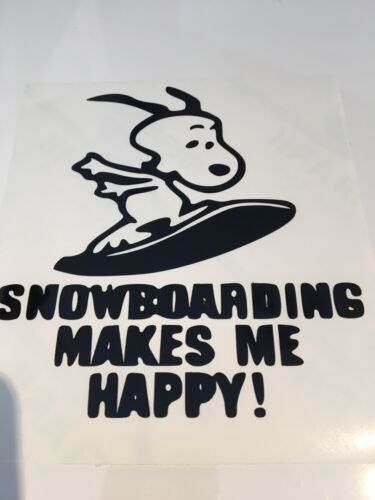 SNOOPY Snowboard paraurti pannelli Auto Decalcomania//Adesivo per finestre