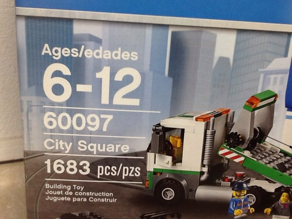 Lego City With Minifigs Square 13 60097 nwvmN08