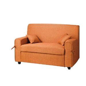 Dettagli su CAPODARTE divano Lisa arancione colorato in tessuto per cucina  o sala economico