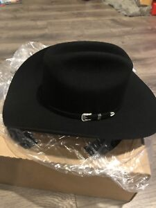 517f39b0acb New Stetson COWBOY HAT Outdoor Western Size 7 3 8 Black Made In USA ...