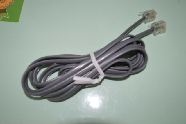 TELEPHONE HANDSET CORD CABLE GREY RJ12 PLUGS 2 CORE 1.7M 6P2C ****BRAND NEW***