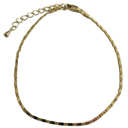 Simple chaîne de cheville bracelet en or chaussure pieds nus sandales Beac Xg