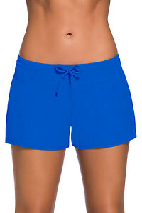 USA-Women-Swim-Boardshort-Lady-Boy-Style-Shorts-Bikini-Swimwear-Beach-Bottom