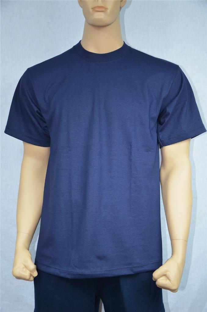6 NEW SHAKA WEAR SUPER MAX HEAVY WEIGHT T-SHIRTS NAVY Blau TEE PLAIN S-5XLT