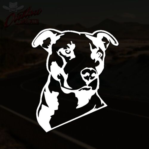 Pitbull Decal Silhouette Pit Bull Laptop Window Sticker *PICK YOUR SIZE /& COLOR*
