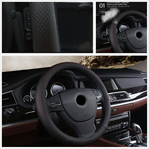 Black-38cm-PU-Leather-Car-Vehicle-Steering-Wheel-Protector-Cover-For-All-Seasons
