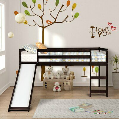Loft Bed Frame For Kids Teens Girls Boys Twin Size Wood