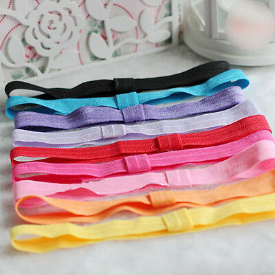 5Pcs Cute Kids Baby Girls Elastic Headband Cotton Headwear DIY Hairband