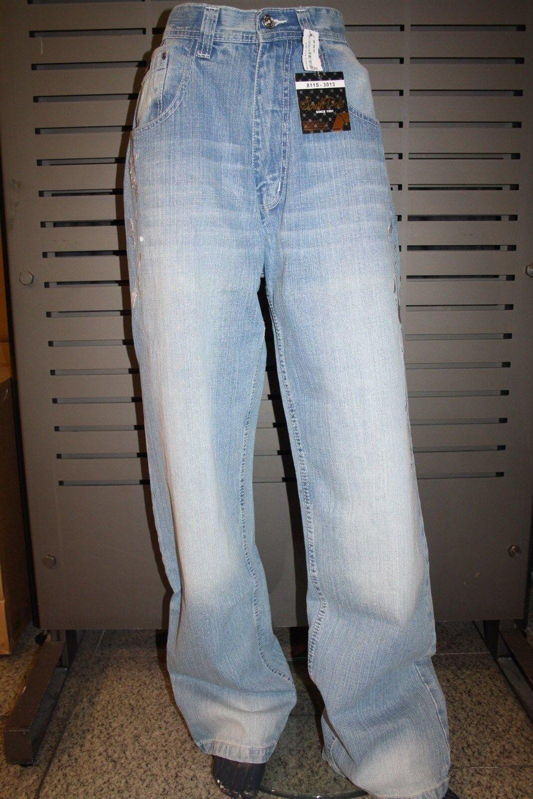 Southpole Baggy Jeans 811s-3013 Light bluee Denim bluee NEW Summer 2018