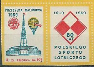 Poland - balloon label 1969 Poznan Fair (2R) - Bystra Slaska, Polska - Poland - balloon label 1969 Poznan Fair (2R) - Bystra Slaska, Polska