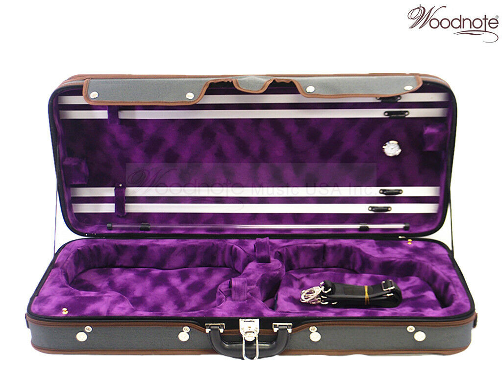 New Pro. Wooden Double Violin case fit 2x 4 4(BL-355mm)