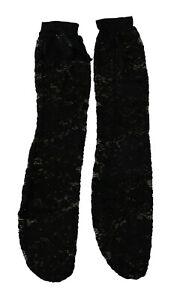 DOLCE & GABBANA Socks Black Lace Nylon Stretch Women Stockings s. S RRP $120