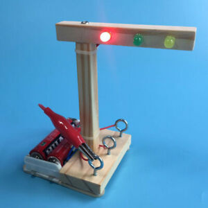 Kids-Science-Experiment-DIY-Toys-Mini-Wooden-Traffic-Light-Gizmo-TST8