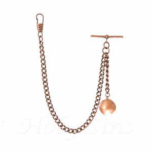 Brand-New-Copper-Colour-Albert-Pocket-Watch-Fob-Chain