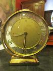 ancien reveil de marque jaz 1950 1960 vintage metal doré