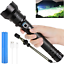 Rechargeable LED Flashlights High Lumens 90000 Lumens Super Bright Zoomable Wat
