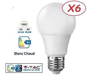 Pack-6-Ampoules-LED-E27-Grande-Vis-12W-eq-75-watt-Blanc-Chaud-marque-V-TAC