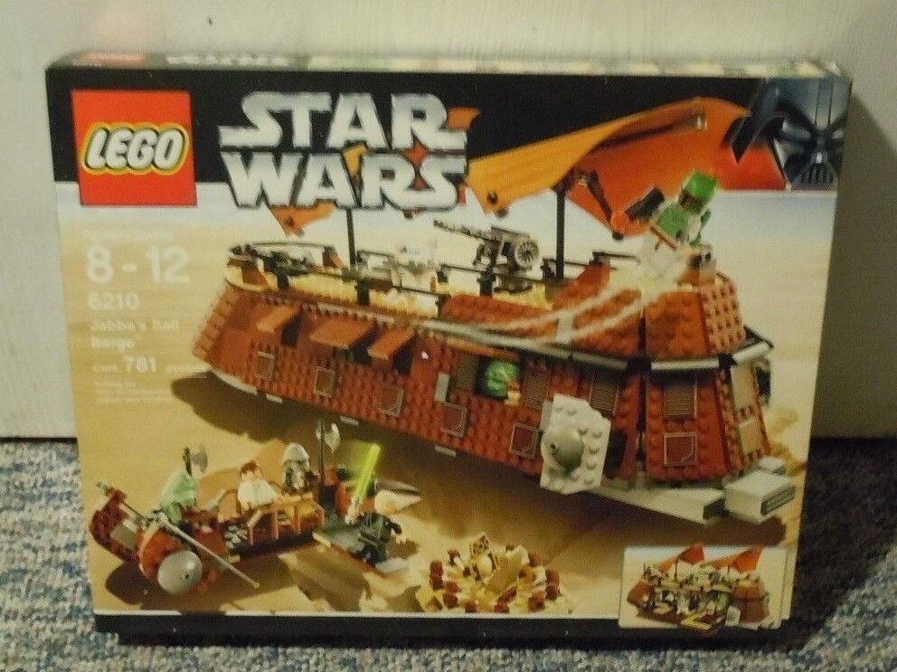 LEGO STAR WARS Jabba's Sail Barge Set 6210 NEW Sealed Boba Fett Jabba Minifigs
