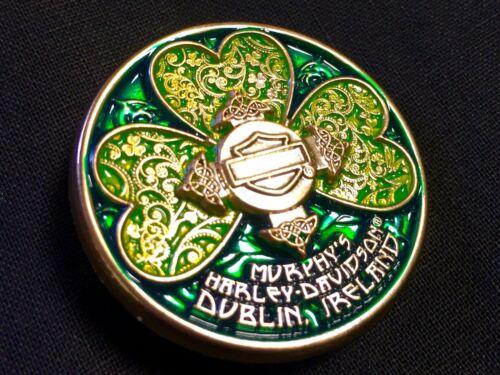 Harley-Davidson Irish Murphys Ornate Shamrock Pin