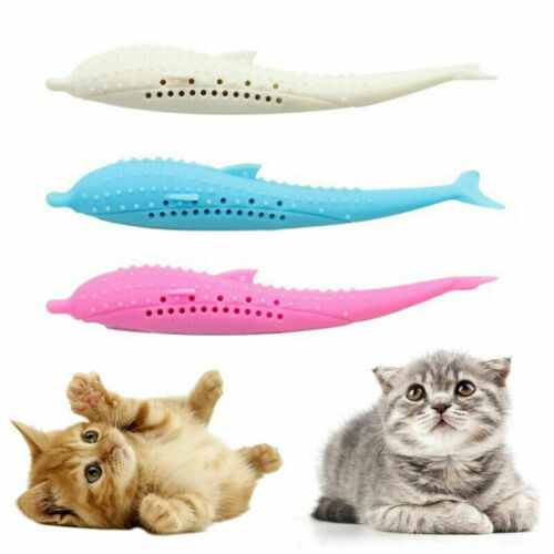 Cat Self-Cleaning Toothbrush With Catnip INSIDE INTERACTIVE CAT DENTAL TOY