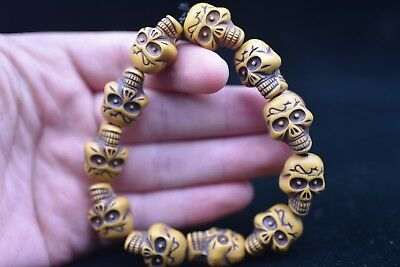 """11 Grain China Master Hand-made """"骷髅头"""" Amulet Bracelets H227 2019 Latest Style Online Sale 50% China Antiques"""
