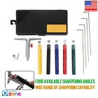 Knife Sharpener Professional Kitchen Sharpening System Fix-angle With 5 Stone