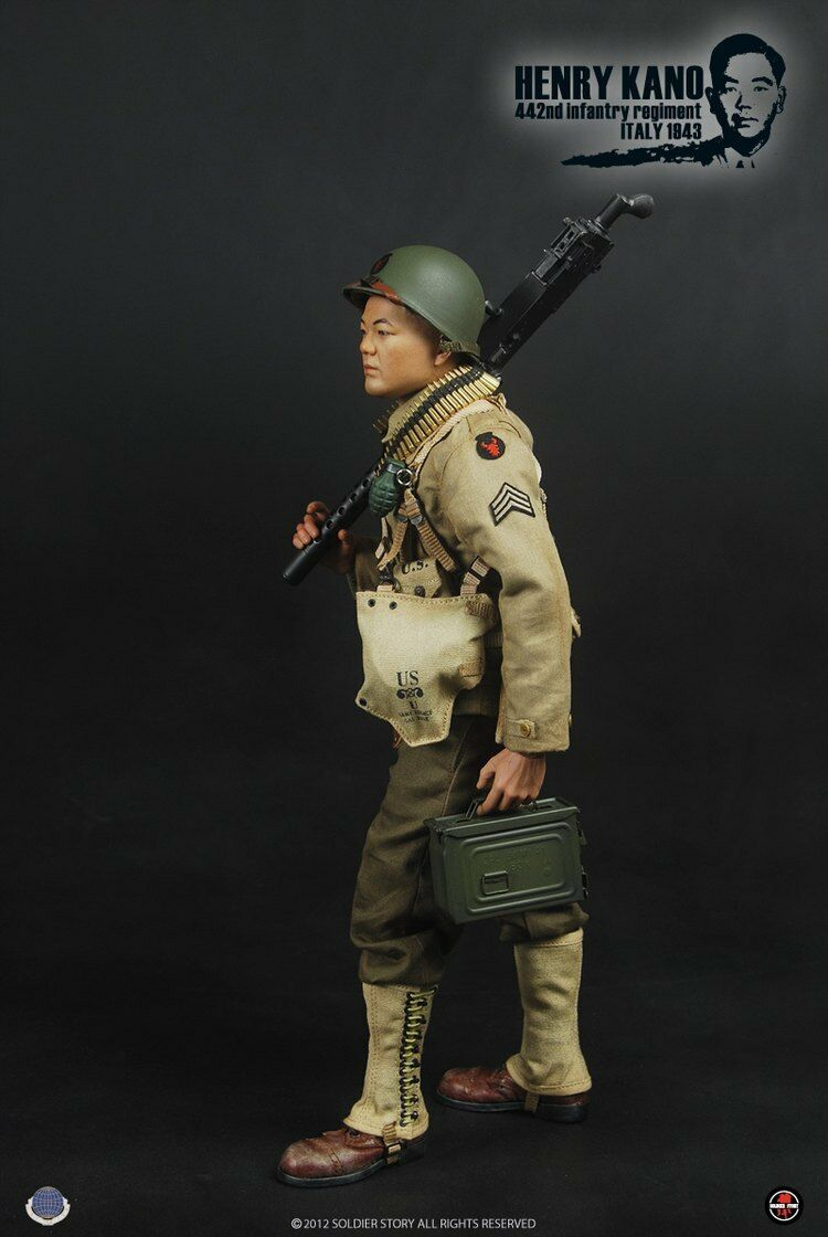 1/6 scale  Soldier Story SS059 US ARMY WWII Henry Kano 442nd Infantry 1943
