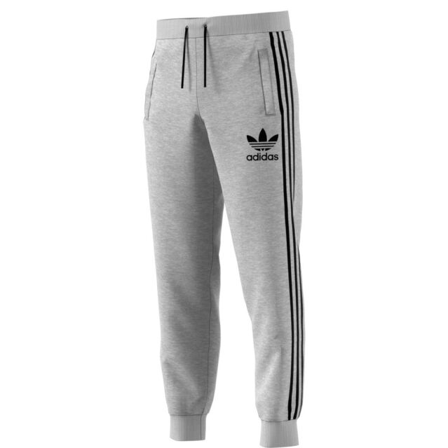 Adidas Originals 3-Stripes French Terry Men's Sweat Pants Grey-Black br2159