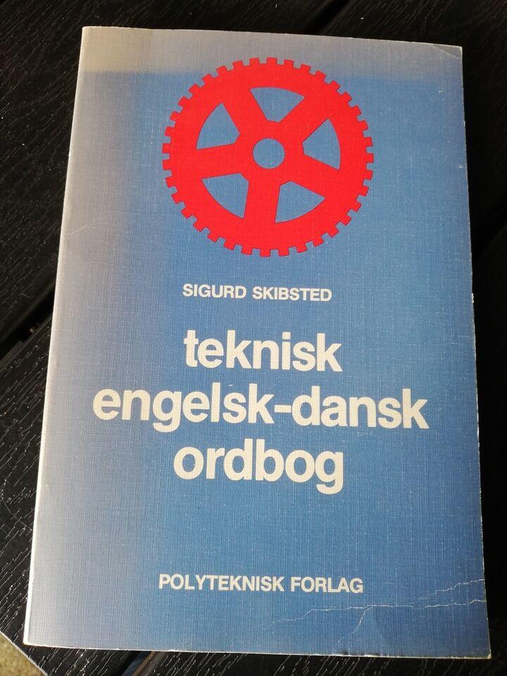 ordbog, teknisk engelsk-dansk ordbog