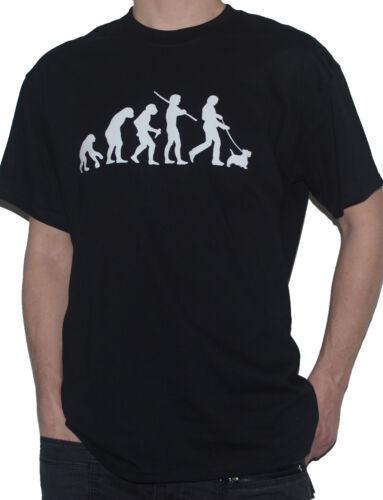 Funny Evolution of Man Dog Walking Top NEW Scottish Terrier Evolution T-Shirt