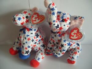 11c7e2653dc TY BEANIE BABY LEFTY AND RIGHTY 2004 - DONKEY AND ELEPHANT - MINT ...