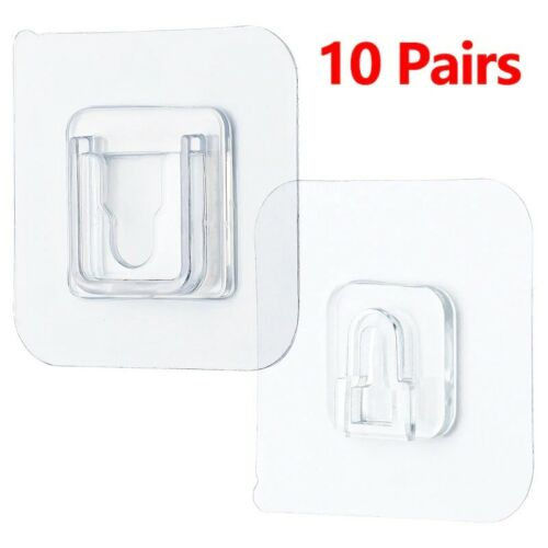 Double-Sided Adhesive Wall Hooks Hanger Strong Transparent Hook For Kitchen Bath