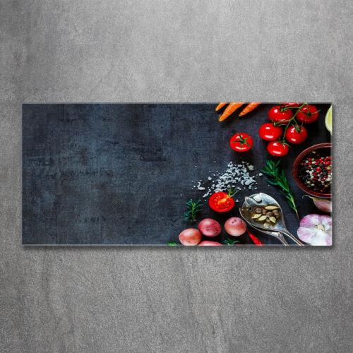 Glas-Bild Wandbilder Druck auf Glas 120x60 Deko Essen & Getränke Zutaten