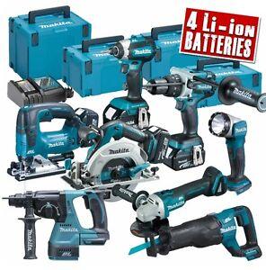 MAKITA TOPKIT8BJ 18v Li-ion 5.0Ah Brushless Cordless 8 Piece Kit