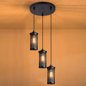 Modern-Vintage-Industrial-Retro-Loft-Cluster-Ceiling-Lamp-Shade-Pendant-Light-UK