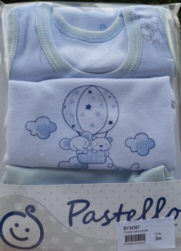3 Body Canotta da Neonato 100/%Cotone Spalla Vogatore Pastello Bambino 0 36 mesi