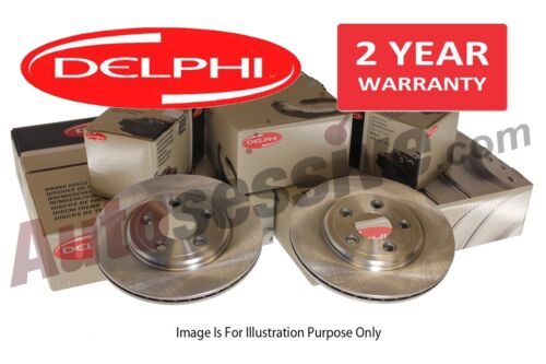 Delphi Vauxhall Tigra 1.4 1.8 1.3 CDTI Front Vented Brake Disc Pair Discs Pads