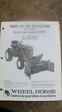 Wheel Horse Parts List and Instructions Manual 6-6214 Snow Thrower C Series